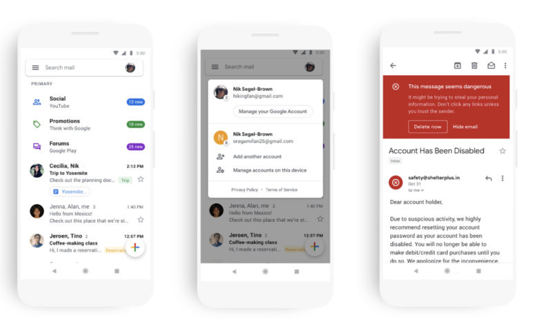 Google Inbox alternatives email
