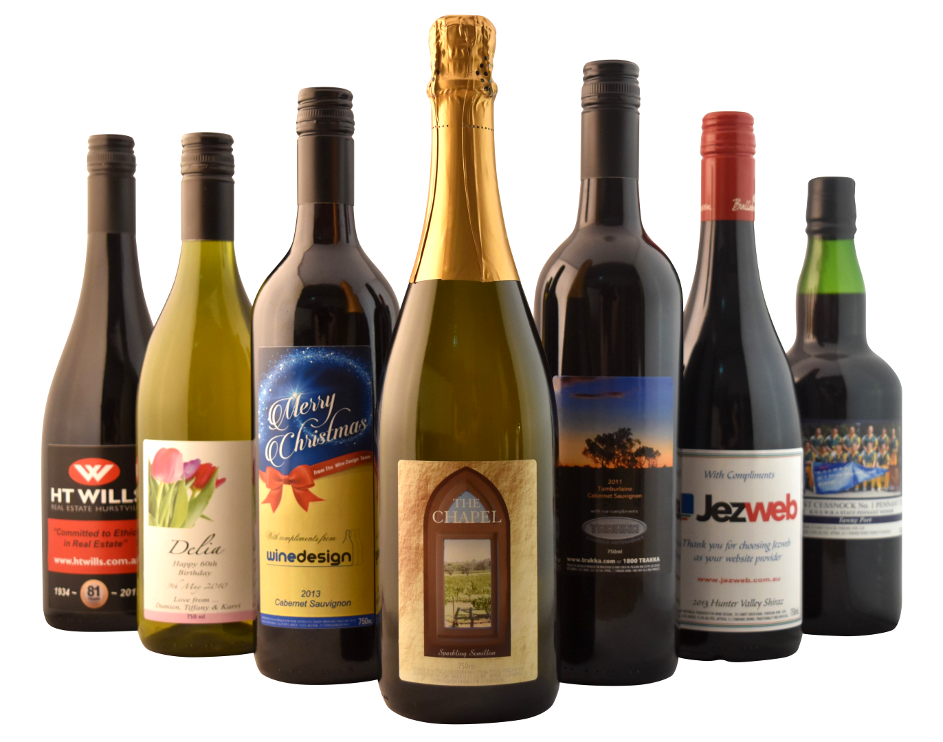 Customised wine labels for winery