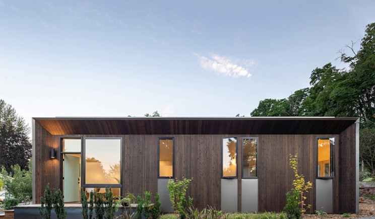 Prefabricated designer home created to facilitate access to housing